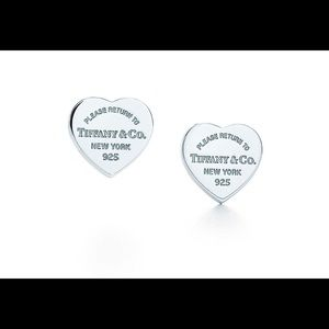 ONLY 1 Tiffany & Co. Mini Heart Tag earring